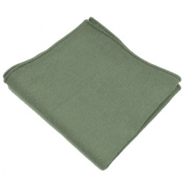 Boys Sage Green Cotton Pocket Square Handkerchief