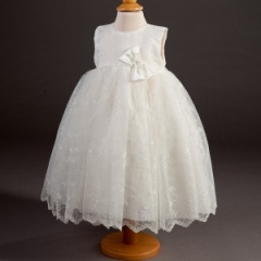 Girls Millie Grace 'Constance' Embroidered Organza Dress