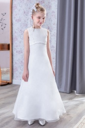 Emmerling White Communion Dress - Style Dafne