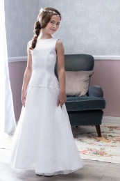Emmerling White Communion Dress - Style Dakota
