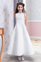 Emmerling White Communion Dress - Style Davina