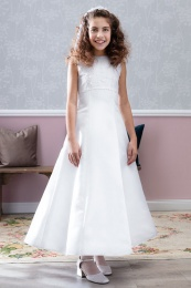 Emmerling Ivory or White Communion Dress - Style Debra