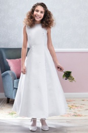 Emmerling White Communion Dress - Style Delu