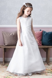Emmerling White Communion Dress - Style Denise