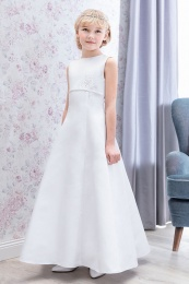 Emmerling White Communion Dress - Style Doris