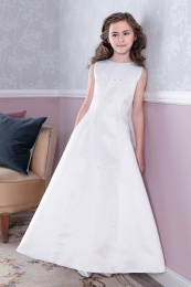Emmerling White Communion Dress - Style Doro