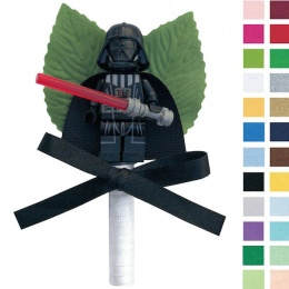 Boys Darth Vader Buttonhole with Satin Bow & Stem