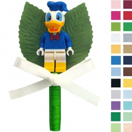 Boys Donald Duck Buttonhole with Satin Bow & Stem