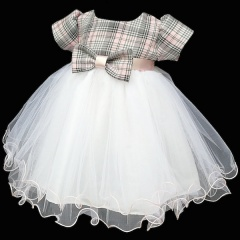 Baby Girls Pink Tartan White Tulle Dress