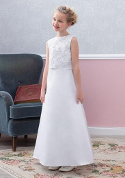 Emmerling White Communion Dress - Style Edda