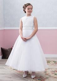 Emmerling White Communion Dress - Style Egidia