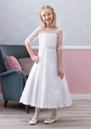 Emmerling White Communion Dress - Style Eileen
