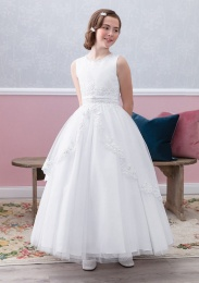 Emmerling Ivory or White Communion Dress - Style Eleonor