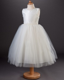 Girls Pearl & Glitter Tulle Dress - Elise by Busy B's Bridals