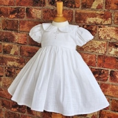 Exclusive Millie Grace 'Elizabeth' White Christening Dress with Cross