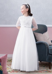 Emmerling Ivory or White Communion Dress - Style Elke