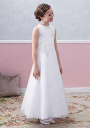 Emmerling White Communion Dress - Style Ellen