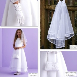 Eloise White Communion Dress, Bag, Gloves & Veil - Peridot