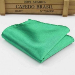 Boys Emerald Green Satin Pocket Square Handkerchief