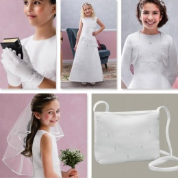 Style Emilia White Communion Dress Set - Emmerling