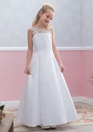 Emmerling White Communion Dress - Style Emily