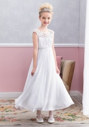 Emmerling White Communion Dress - Style Emma