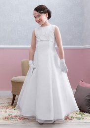 Emmerling White Communion Dress - Style Erika