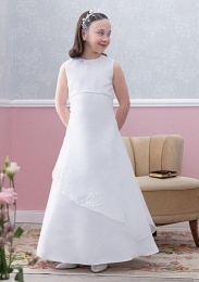 Emmerling White Communion Dress - Style Erna