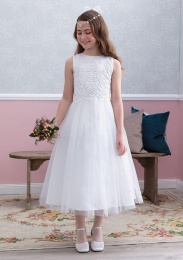 Emmerling White Communion Dress - Style Esme