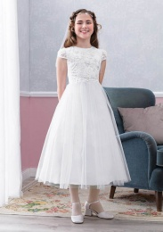 Emmerling White Communion Dress - Style Eva