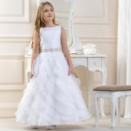 Girls Ripple Style Organza Dress by Lacey Bell Style CD17