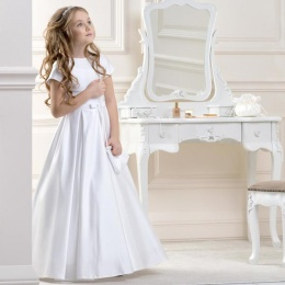 Girls Classic Satin Dress by Lacey Bell Style CD18
