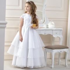 Girls Lace & Organza Layered Dress by Lacey Bell Style CD2