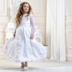 Girls Muslin Sleeved Dress by Lacey Bell Style CD20