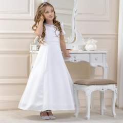 Girls A-line Satin Dress by Lacey Bell Style CD22