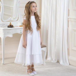 Girls Lace & Organza Dress by Lacey Bell Style CD3