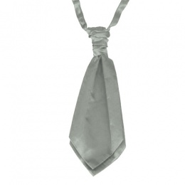 Boys Grey Adjustable Scrunchie Wedding Cravat