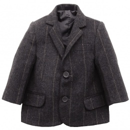 Boys Grey Tweed Check Jacket