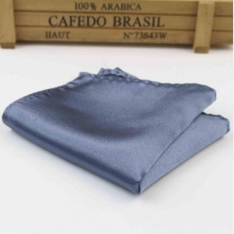 Boys Gunmetal Grey Satin Pocket Square Handkerchief