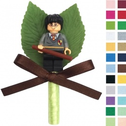 Boys Harry Potter Buttonhole with Satin Bow & Stem