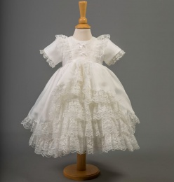 Baby Girls Bo Peep Lace & Satin Dress - Helen by Millie Grace