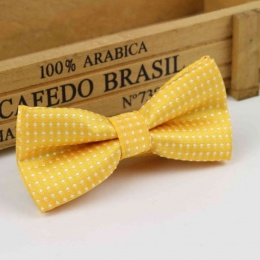 Boys Honey Yellow Polka Dot Bow Tie with Adjustable Strap