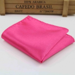 Boys Hot Pink Satin Pocket Square Handkerchief