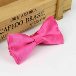 Boys Hot Pink Satin Dickie Bow with Adjustable Strap
