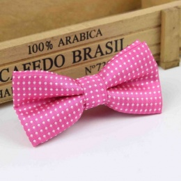 Boys Hot Pink Polka Dot Bow Tie with Adjustable Strap
