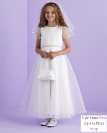 Ivory Spot Holy Communion Dress - Laura P135A by Peridot