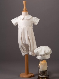 Baby Boys Dupion Romper & Hat - Jack by Millie Grace
