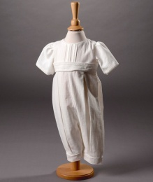 Baby Boys Cotton Christening Romper - Jacob by Millie Grace