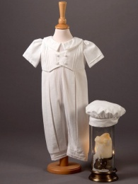 Baby Boys Cotton Romper & Hat - Jude by Millie Grace
