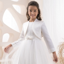 Girls Satin Long Sleeve Bolero by Lacey Bell Style K201